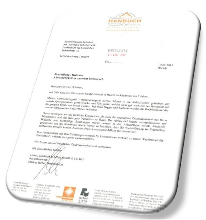 Firma Natursteinwerk Hanbuch