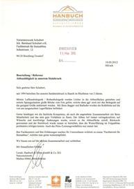 Referenzschreiben Natursteinwerk Schubert
